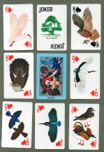 Collectable vintage Suntory  whisky advertising playing cards  Wild Birds in Japan